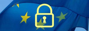 Lock and EU flag